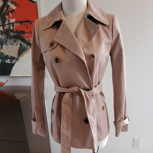 J Crew Classic Short Icon Trench Dusty Rose 0